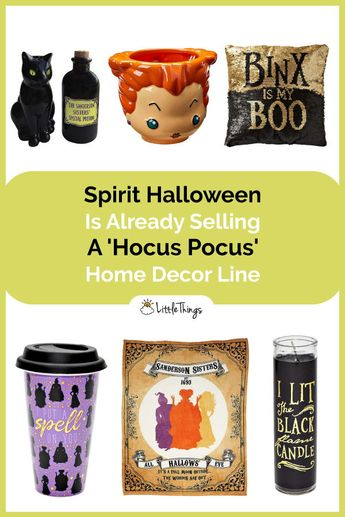 Spirit Halloween Is Already Selling A 'Hocus Pocus' Home Decor Line: For fans of Disney Halloween classics like Hocus Pocus, these personal favorite items are simply for them to love!