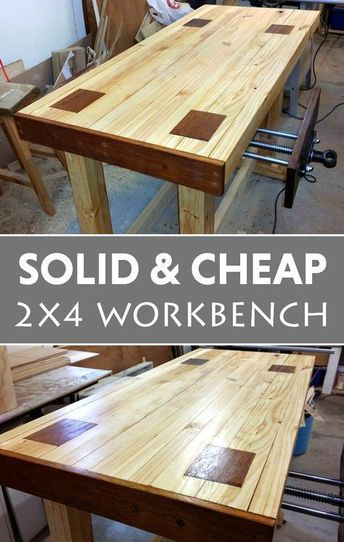 Attractive workbench on the cheap. #woodworkingbench