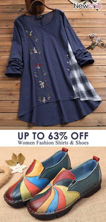 women fashion shirts & shoes. #casualshoes #floralshirts #fashionoutfits