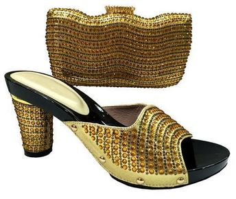 Women Fashion Set of Shoes and Purse, Open Toe Sandals With a Matching Bag, Various Colors