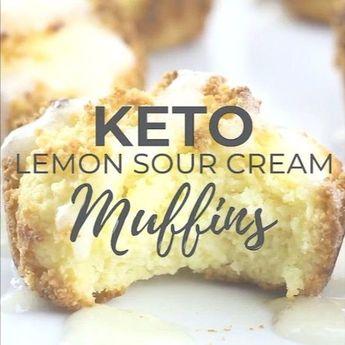 Keto lemon sour cream muffins
