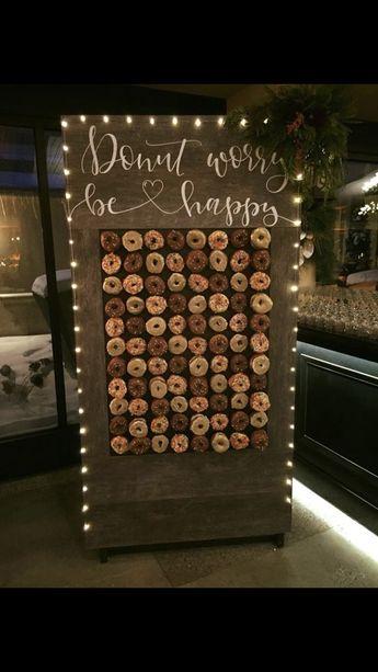 #donutwall #nyewedding #diy Donut wall donut wall wedding  #DIY #donut #donutwall #nyewedding #Wall #wedding