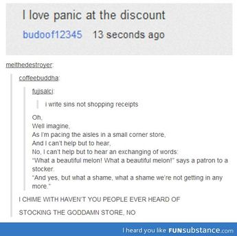 Panic at the discount