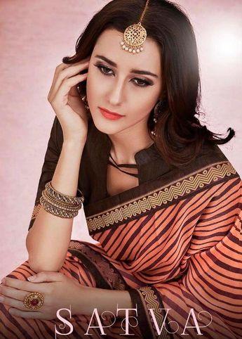 efe97249d1 Mintorsi Sarees Satva Designer Printed Chiffon Sarees with Art Silk Blouse  at Wholesale Rate