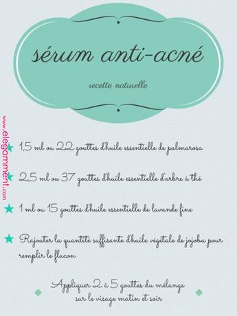 DIY : un sérum anti-imperfections - RED BEAUTY #HomemadeBeautyProducts