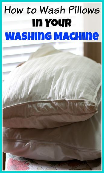 Don't throw out old pillows, you can clean them instead! Here's how to wash pillows in your washing machine (and dry them in your dryer)!