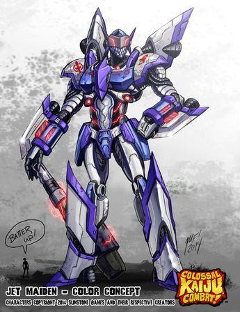 Colossal Kaiju Combat - Jet Maiden by KaijuSamurai.deviantart.com on @deviantART