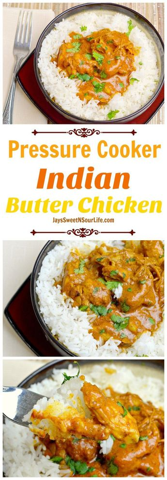 Fill your home with the smell of this delicious Pressure Cooker Indian Butter Chicken dish that is sure to please your hungry crowd.
