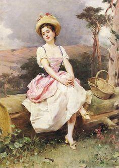 "Raimundo de Madrazo y Garreta (Spanish, 1841-1920), ""A rest along the way"""