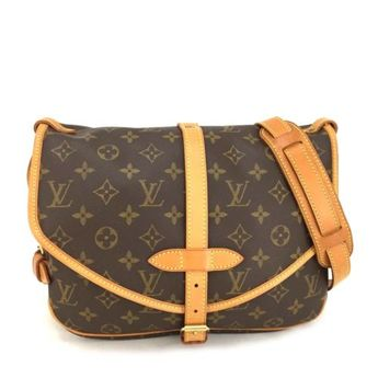 47ad6c7e51388 Details about 100% Authentic Louis Vuitton Monogram Saumur 35 Cross body  Shoulder Bag  o200