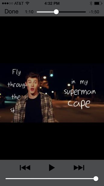 Fly through the sky in my superman cape