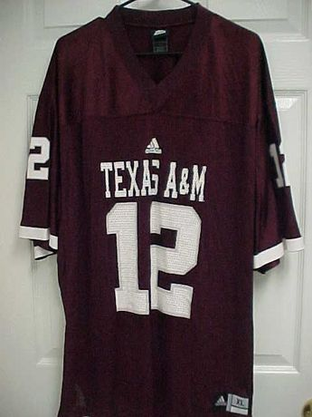 226a36f9f TEXAS A M Aggies 12 Men Maroon V Neck Nylon Mesh Football Jersey XL Adidas   adidas