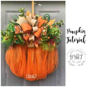 Wreath Tutorial, Pumpkin Wreath Tutorial, DIY Wreath, Fall Wreath Tutorial, Wreath Making, Autumn Wreath Tutorial, Learn to Make a Wreath