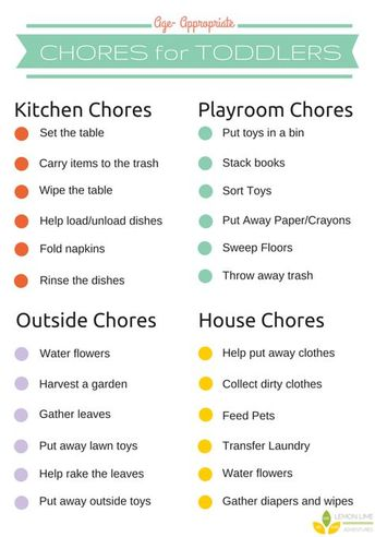 Starter's Guide to Toddler Chores