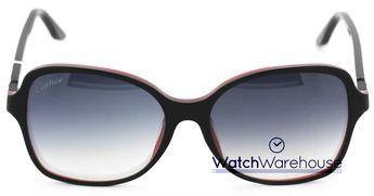 cca856be5dc Cartier Double C Décor Black Red Composite Women s Sunglasses ESW00099