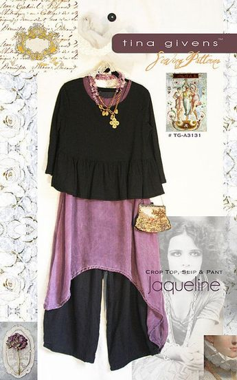 Jaqueline TG-A3131 Sewing Pattern 3 pcs. by Tina Givens- Lagenlook Style