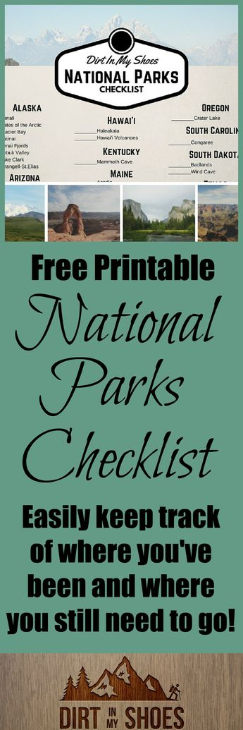 FREE National Parks Checklist!
