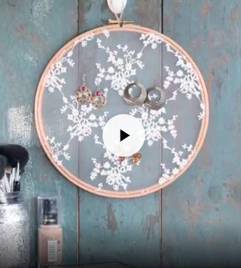 Tambour DIY couture hack détourner un vieux tambour à broder pour en faire un pochoir ou un porte bijou #hack #upcycling #diy #doityourself