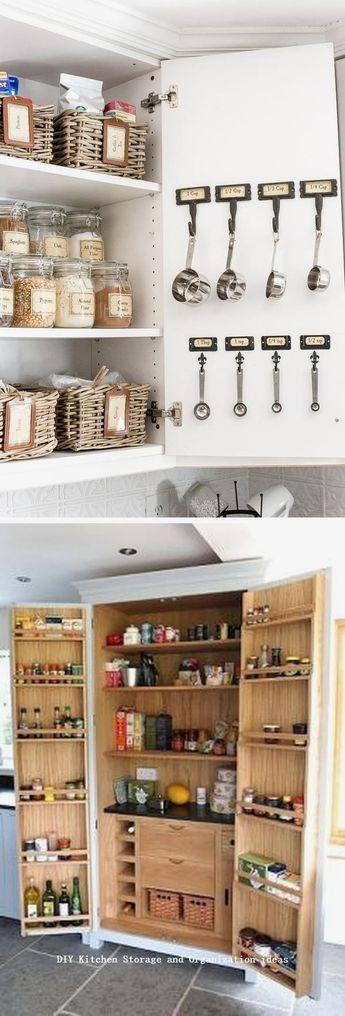 12 Diy Kitchen Storage Ideas For More Space in the Kitchen  #kitchenmakeover #DIY