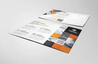 Asclepius Modern Elegant Postcard Template - Graphic Templates