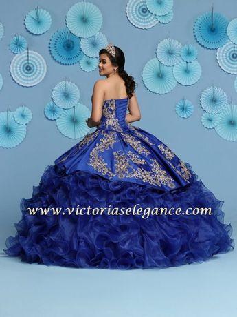 ff97e5e5a3e Ruffled Organza Ball Gown Q by DaVinci 80431