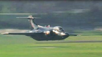 Buccaneer Pulls Off Low Flyby- Powered by 2 Rolls-Royce RB Spey Mk.101 Turbofans