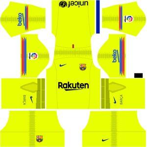b9b856f52 Barcelona Away Kit 2019 Dream League Soccer Kit. Barcelona Away Kit 2018-19  ...