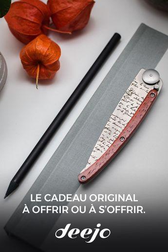 Besoin d'un couteau personnalisable selon vos envies ? Deejo est là pour vous et vous accompagnera dans toute les occasions. Offrez un cadeau raffiné et unique 🎁