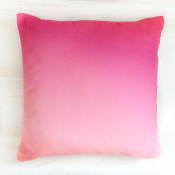 Magenta to Pink Gradient Throw Pillow