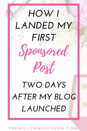 Landing My First Sponsored Post - 2 Days After I Launched