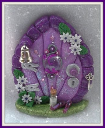 FD204 Fairy Door Herculite by CharmedFairyDoors on Etsy #miniaturefairygardens