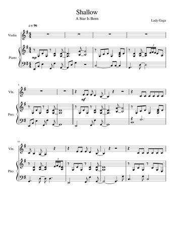 Lady GaGa Shallow sheet music 7 pages PDF Bradley t