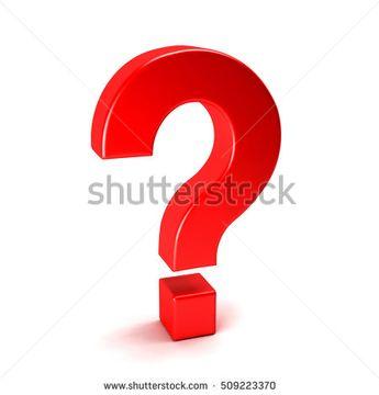3D Symbol Question Mark. Render Illustration