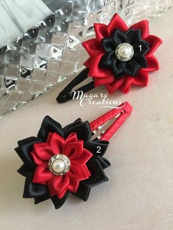 Kanzashi snap clips,snap clips,flower hair clip,hair accessories,hair clips,girl clips,girl hair cli