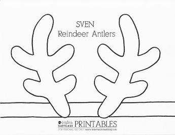 holiday hoop art free antler printable