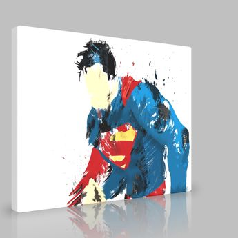 Superman Painting [Superman Painting] - £15.95 : Canvas Dreams, your photos to canvas