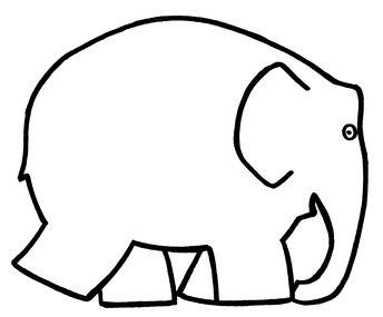 Malvorlage Elmar Elefant Coloring And