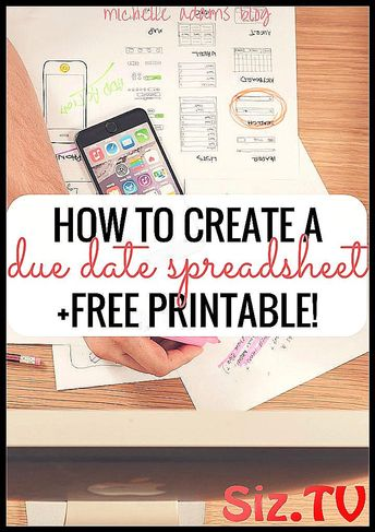 Stay Organized With My Due Date Spreadsheet   FREE #assignments #college #consistent #crucial #Date #due #education_college_staying_organized #FREE #Helped #method #organized #printable #semester #Spreadsheet #start #started #stay #strong #tracking #tremendously