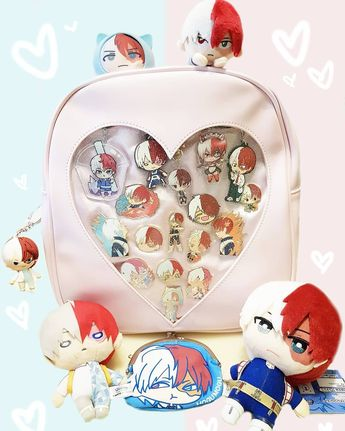 Watching the Boku No Hero movie in theaters today, so I slapped together this little ita bag. This isn't even all my todoroki merch 😅😅😅 I…
