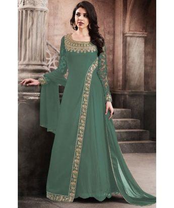 64ceb7467fc47 Ravishing Moss Green Designer Suit