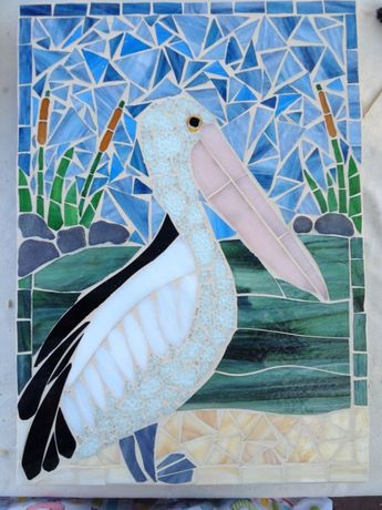 pelican applique design | 68 best images about mosaic seagulls and pelicans on ...