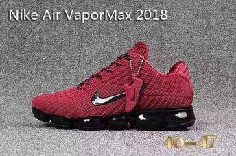 b41ddc90d0 Nike Air VaporMax 2018 Men Shoes Dark Red & Black Color
