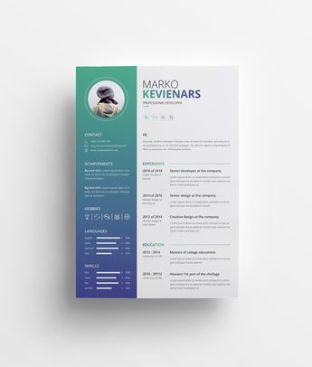 Ares Premium Professional Resume Template - Graphic Templates
