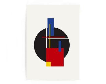 Printed Abstract Print, Abstract Wall Art, Wall Decor, Art Prints, Prints Art | Boho Wall Art | Scandinavian Office Gallery Wall Art 1960s