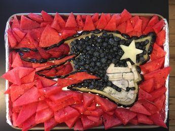 New England Patriots fruit tray!  Go Pats!
