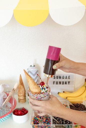 A Colorful Ice Cream Sundae Bar for Summer | Club Crafted