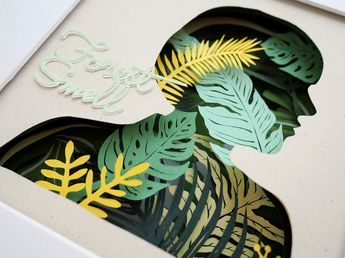 Paper Craft Shadow Box Pays Homage to the Forest