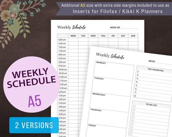 weekly planner week s plan weekly schedule weekly organ