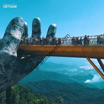 バナヒルズ、ダナン、ベトナムのゴールデンブリッジの特別な建築#... - #バナヒルズダナンベトナムのゴールデンブリッジの特別な建築