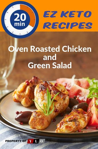20 Minute Keto Oven Roasted Chicken